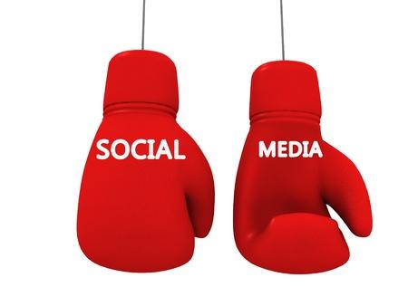 social media juego lucha entre marcas