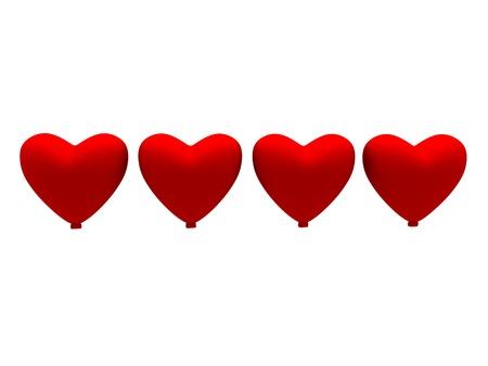heart shape balloon in row form Stock Photo - 20484297