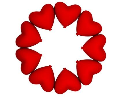 heart shape balloon in round form Stock Photo - 20484215