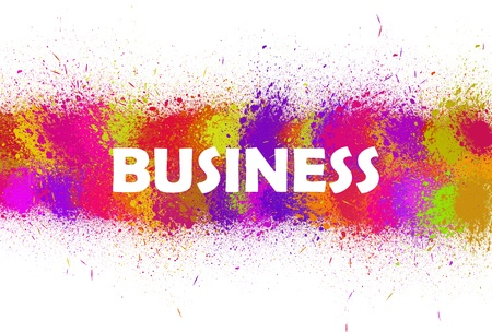 business in color background