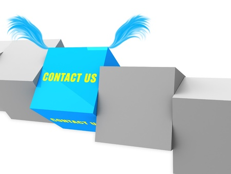 contact us block with wings photo