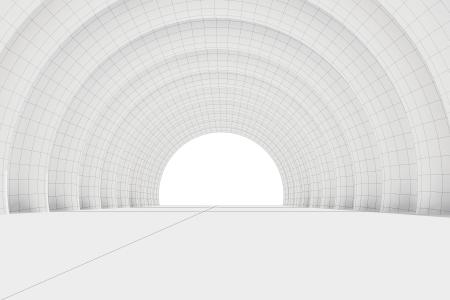 wireframe medio c�rculo en serie