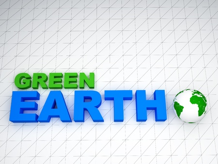 3d concept on earth green