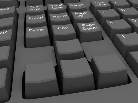 blank button in keyboard Stock Photo