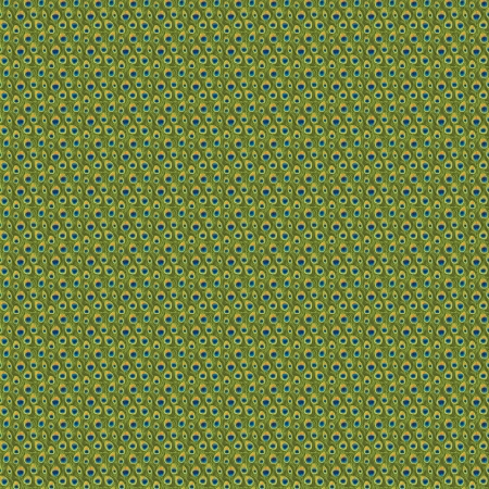 green tail of peocock seamless pattern