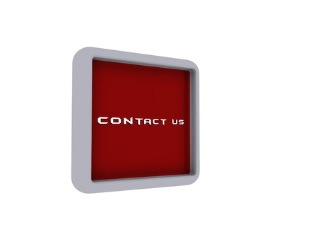 landlines: 3d contact us box with isolated white background Stock Photo