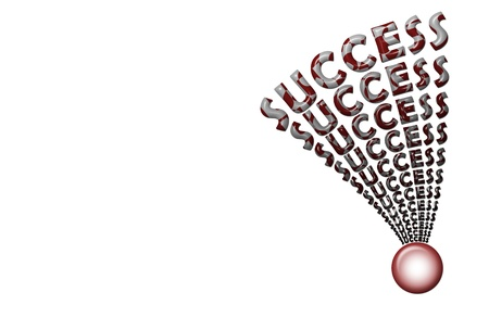 multiple success splatter text attach with button Stock Photo