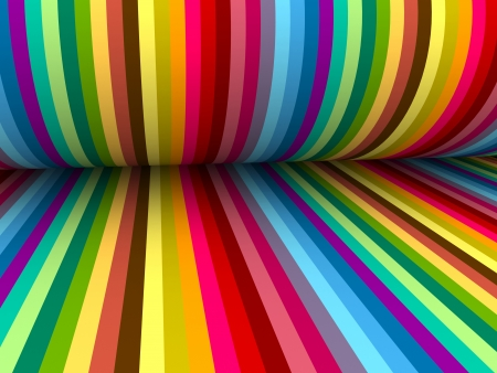 3d abstract colorful lines with folding paper