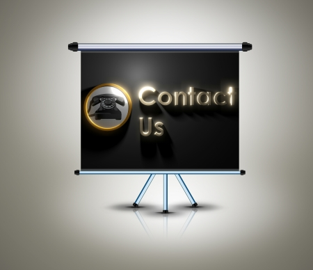 contact us design on banner photo