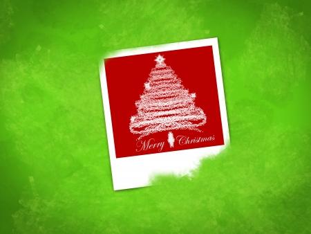 Ilustraci�n de Navidad con marco de fotos �nica Foto de archivo