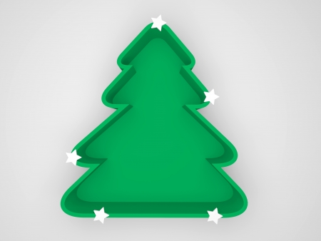 conceptually: conceptually green christmas tree for save environment and energy