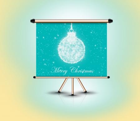 bola de Navidad, marco de la cartelera de pie, 3d