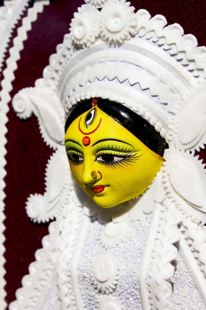 vedas: goddess durga statue