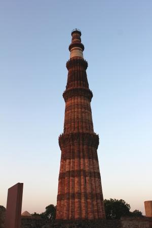 minar: qutub minar in the evening time Stock Photo