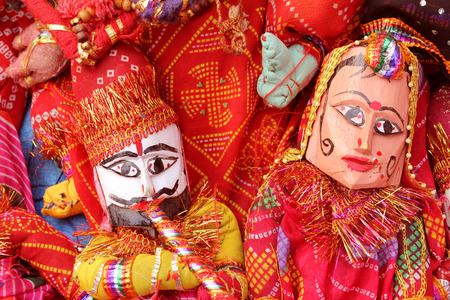 marioneta: t�tere en Rajasthan Foto de archivo