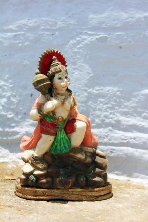 hanuman: isolated statue of lord hanuman