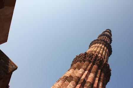 minar: qutub minar, delhi, india