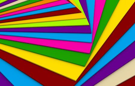 abstracto plano de m�ltiples colores sobre otro
