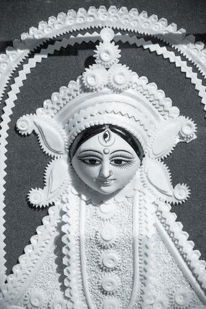 vedas: goddess durga statue in fair