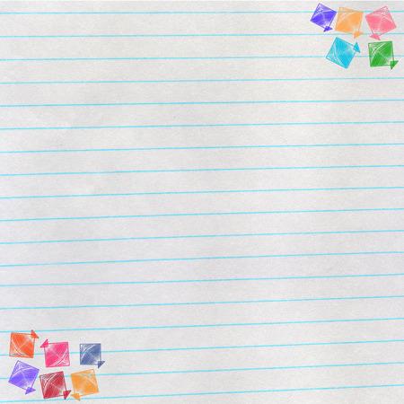 paper kite: colorful kite on paper background, makar sankranti concept