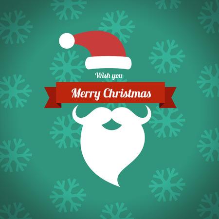 de santa barba recortada, ilustraci�n Feliz Navidad