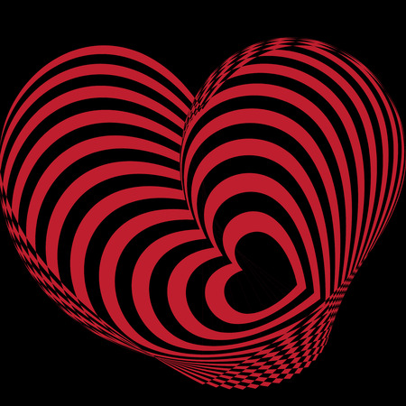 multiple: multiple heart abstract background