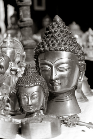 cabeza de Buda se�or en dilli tienda haat Foto de archivo