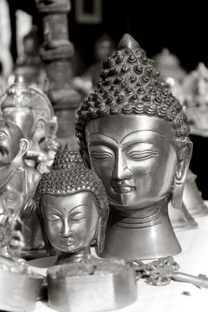 lord buddha: lord buddha head in dilli haat shop Stock Photo