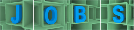 different jobs: individual jobs letter in different boxes