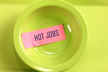 hot job text in bowl