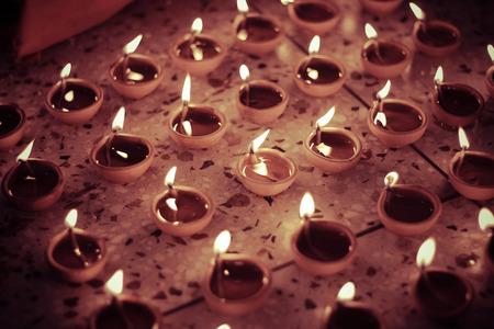 oil lamp: multiple traditional oil lamp, diwali celebration