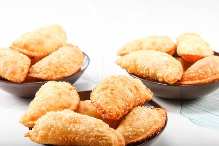 gujia, plato dulce indio para la celebraci�n del festival Foto de archivo