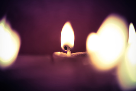 oil lamp: multiple oil lamps lit on diwali festival