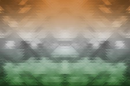 Tricolores indias con d�as superficie tri�ngulo Fondo geom�trico de la independencia y el concepto de rep�blica
