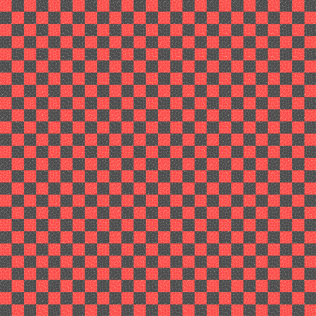 red and black checkered with mosaic cells over it, abstract background