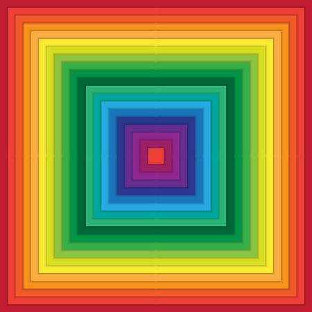 rippling: Multicolored abstract squares within square with rippling effect