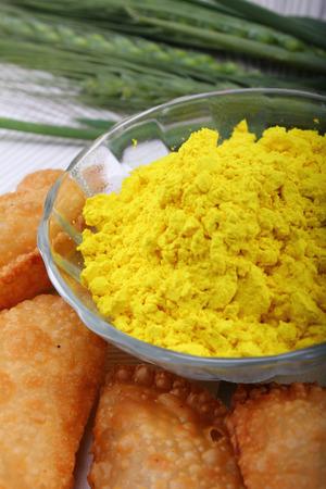 gujia special dish for holi festival in india Stock Photo
