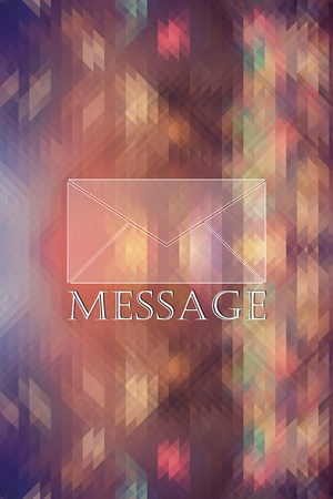 dark and sunny abstract background with mail icon
