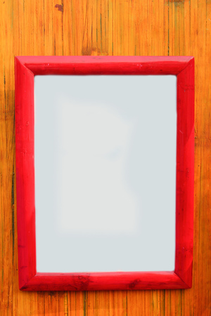hite Frame with bamboo on stripe background Stock Photo