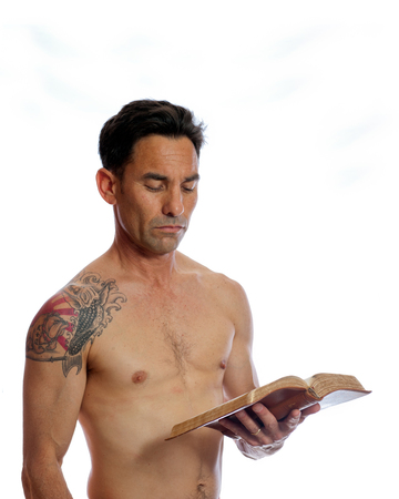 the scriptures: Thy body is thy temple Stock Photo