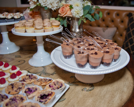 catered: Decadent catered dessert