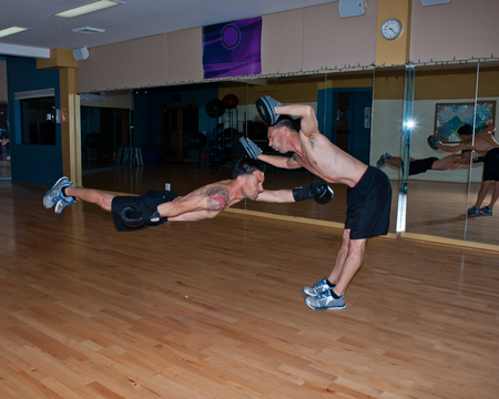 cardiovascular workout: Taking a hard punch to the gut