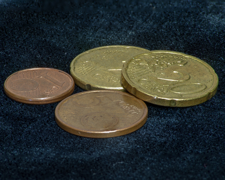 46 Euro cents in various coins.