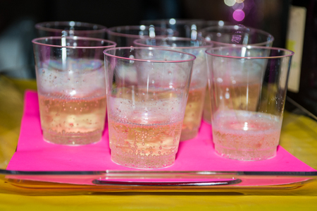 Hospitality accommodations feature complimentary cups of bubbly and sparkling champagne. Stok Fotoğraf
