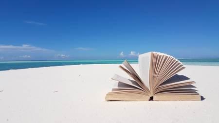 v02001 Maldives beautiful beach background white sandy tropical paradise island with blue sky sea water ocean 4k book