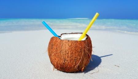 sandbank: P00716 Maldives white sandy beach coconut on sunny tropical paradise island with aqua blue sky sea ocean 4k