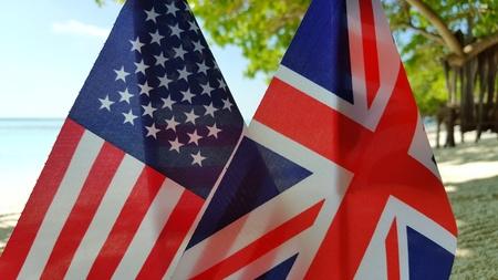 미국 미국 및 영국 연합 배경 플래그 배경 스톡 콘텐츠