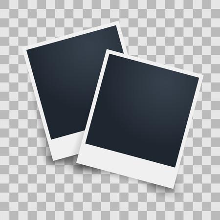 photo frame on a transparent background. Vector illustration