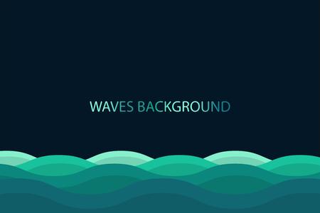 Water wave background , blue color background. Illustration
