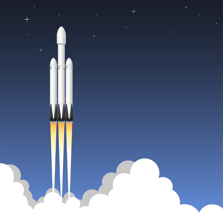 USA rocket carrier. Icon vector illustration.